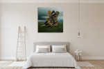Turtle's Home Wall Art Print on the wall