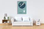 The Astronaut Balloon Wall Art Print  on the wall
