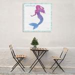 Mermaid Friends III Lets Be Wall Art Print on the wall