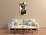 Dress Form Recolor Wall Art Print on the wall
