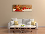 Duo in Red Wall Art Print on the wall