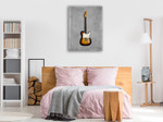 Fender Equire Wall Art Print on the wall