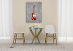 Fender Mustang Wall Art Print on the wall