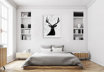 Deer Friend Wall Art Print on the wall