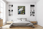 Great Egret Wall Art Print on the wall