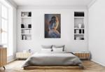 Northern Pygmy Owl Wall Art Print on the wall