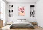 Pink Sunset II Wall Art Print on the wall