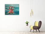 Belize Turtle Wall Art Print on the wall