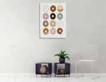 Donuts Wall Art Print on the wall
