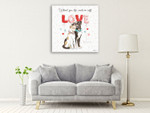 Paws of Love IV Wall Art Print on the wall