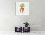 Veggie Market Carrots V Wall Art Print on the wall