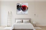 Wine on Glass Wall Art Print on the wall