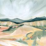 Vermillion Landscape II Wall Art Print