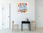 Happy Thoughts V Wall Art Print on the wall