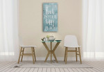Happy Toned Down Wall Art Print on the wall