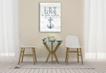 Let Love Hope I Wall Art Print on the wall