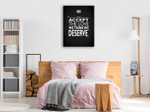 Love we Deserve Wall Art Print on the wall