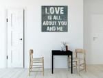 Pure Love Wall Art Print on the wall