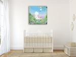 Baby II Wall Art Print on the wall