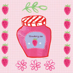 Pretty Jams and Jellies I Wall Art Print