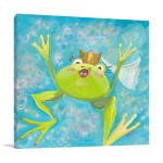 The Frog I Wall Art Print | Modern Kids Wall Art on Canvas