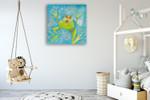 The Frog I Wall Art Print on the wall