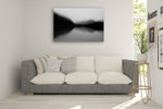 Mist on the Lake Wall Art Print on the wall