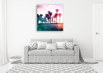Surf On The Boardwalk Wall Art Print on the wall