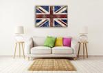 The England Flag Wall Art Print on the wall