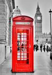 London Phone Wall Art Print