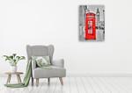 London Phone Wall Art Print on the wall