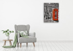 London Red Phone Wall Art Print on the wall