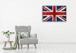 United Kingdom Flag Wall Art Print on the wall