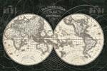 French World Map Wall Art Print