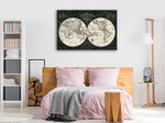 French World Map Wall Art Print on the wall