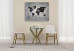 Riveting World Map Wall Art Print on the wall