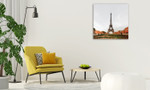Eiffel Tower Wall Art Print on the wall
