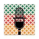 Microphone Music Retro Wall Art Print