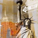 New York One Way Wall Art Print