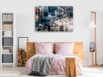 New York Rooftop Wall Art Print on the wall