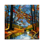 Autumn Stream Wall Art Print
