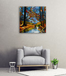 Autumn Stream Wall Art Print on the wall