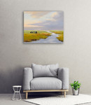 Grazing Cattle Wall Art Print on the wall