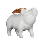 Poly Resin Angelic Pig White Gloss