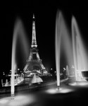 Eiffel Tower Fountains Wall Art Print