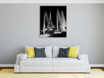 Eiffel Tower Fountains Wall Art Print on the wall