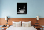 Eiffel Tower Merry Go Round Wall Art Print on the wall