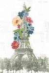 Floral Eiffel Tower Wall Art Print