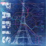 Paris Blue Wall Art Print