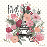 Paris is Blooming II Wall Art Print
